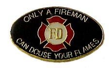 Fireman Lapel Cap Pin Tac Maltese Cross FD Fire Department Douse Flames New