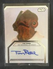 2013 Topps Star Wars Tim Rose as Admiral Ackbar SIGNED AUTOGRAPH AUTO Card NICE!