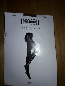 Wolford 14504 Lara Tights Ridge/Black  Size XS or M
