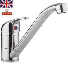 Long Single Lever Kitchen Sink Mono Basin Mixer Tap Swivel Spout Chrome Modern