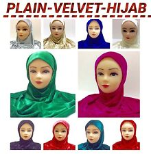 HIJAB velvet NEW Kids Girls  Muslim Islamic  Headwear Hijab 13 colors GOOD QTY