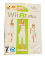 Wii Fit Plus Nintendo Wii 2009 Complete w/ Manual Zumba 40 Dance Routines