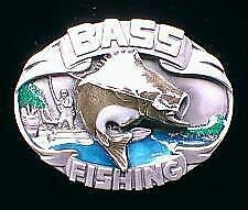 Unique Buckles Unused! Bass Fishing Belt Buckle