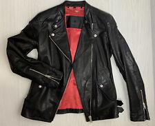 "Belstaff  Women's Black ""BURNETT"" Leather Jacket  Sz 38 UK 8 XS Great Condition"