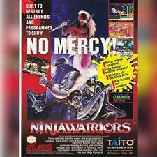 Super Nintendo SNES Taito NINJA WARRIORS video game magazine print ad page