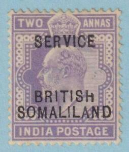 "SOMALILAND PROTECTORATE SG 08  MINT NO GUM - BROKEN ""H"" VARIETY - VERY FINE!"