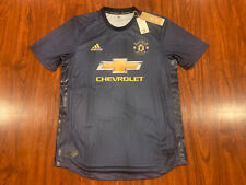 2018-19 Adidas Manchester United Men's Soccer Jersey Large L Authentic Player