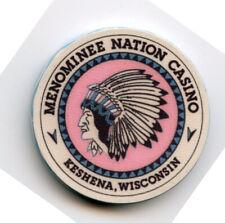 1.00 Casino Chip from the Menominee Casino Keshena Wisconsin Chipco