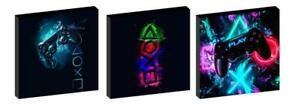 PLAYSTATION CANVAS WALL ART PLAQUES/PICTURES set of 3