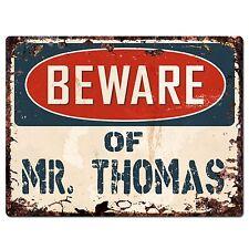 /& MRS THOMAS Family Name Sign Home Decor Gift BPLU0014 America Flag MR