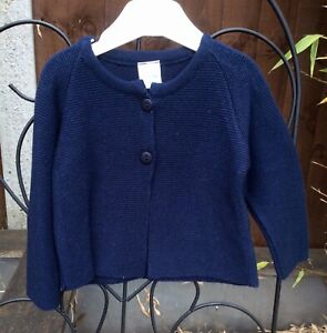 Boys Spanish Brand Knit Cardigan 3 - 36 months - Traditional Style - Grey/Navy