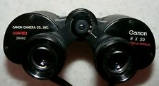Canon 8x30 Coated binoculars in leather case, ser No.28992. Made in Japan