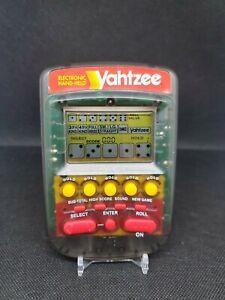 Vintage Milton Bradley Yahtzee Electronic Handheld Game Clear Smoke 1995 -Tested