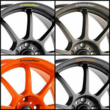 x8 IRMSCHER Rims Alloy Wheels Curved Decals Stickers Opel Chevrolet Vauxhall