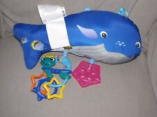 "Baby Einstein Plush Blue Whale 15"" Toy Replacement for Ocean Adventure Play Gym"