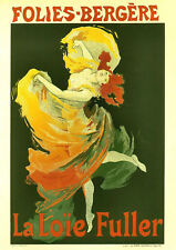 """Vintage French """"Folies-Bergere"""" Reproduction Poster, Home Wall Art, Print"""