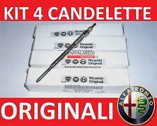 4 CANDELETTE ORIGINALI ALFA ROMEO 159,Brera,Giulietta,Mito,Spider 1.6 2.0 jtdm