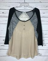 Boutique Hayden Los Angeles Women's M Medium Cute Lace Fall Light Sweater Top