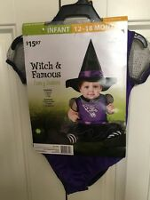 INCHARACTER Halloween Costume Dress Up Girls Infant Witch & Famous 12-18 Months