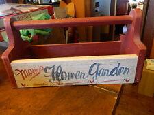 Wooden Tool Box Mom's Flower Garden Holds Garden Tools or Planter Box