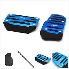 Blue 2 Pcs Nonslip Car Automatic Accelerator Brake Foot Pedal Treadle Belt Drill
