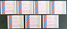 Australian Decimal Stamps:1984 Frama - Barred Edge - Set of 7 MNH
