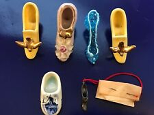 Vintage Lot of Mini-Porcelain/Glass/Pewter High Heel Shoes (6 pc)-Hand Made