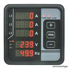 3 PHASE AC VOLTAGE FREQUENCY CURRENT ALARM DIGITAL MULTI-FUNCTIONS PANEL METER
