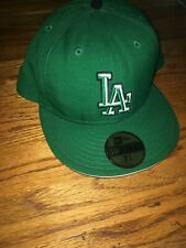 New Era LA Dodgers Cap Green 7 3/4 Fitted Hat 59Fifty