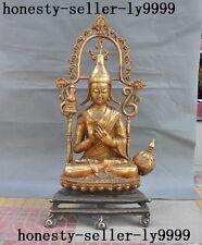 old Tibet Buddhism temple bronze Gilt Tsongkhapa Master Shamanism Buddha Statue
