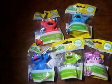 New! Set of 5 Sesame Street Friends Figures/Cake Toppers