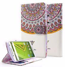 Moto X Play Folio Stand Bill Credit Card Wallet PU Leather Pouch Fold Kickstand
