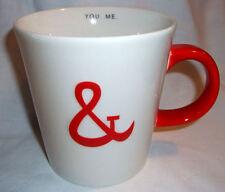 Starbucks You & Me Coffee Mug 2013 Valentine Love Red White Ceramic 12 oz