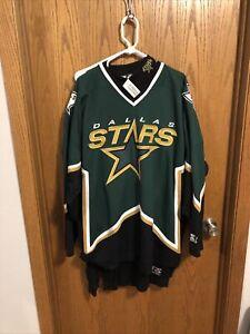 Starter Dallas Stars Jersey Vintage 90s NHL Hockey Sewn Green Size 2XL