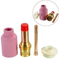 TIG Welding Torch Body Gas Lens Nozzle Collets Cup Kit for WP17/18/26 4PCS