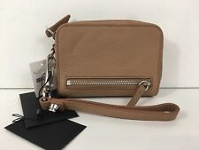 NWT ALEXANDER WANG LARGE FUMO LEATHER WITH RHODIUM IN TRUFFLE WRISTLET $225