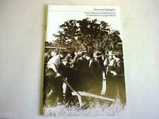 John Deere 150 Years of JD Historical Highlights Brochure                     b4