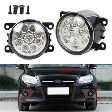 9 LED Round Front Fog Lamp DRL Daytime Running Light For Ford Focus Honda Subaru