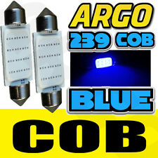 2X COB LED HIGH POWER 3W 239 272 C5W NO ERROR NUMBER PLATE REG LIGHT BULBS BLUE