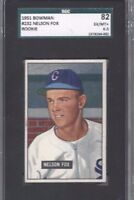 1951 Bowman baseball card #232 Nelson Nellie Fox, Chicago White Sox SGC 82 6.5