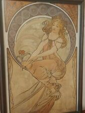 """Alfons Maria Mucha """"The Arts - Painting an Allegorical"""" Print - Framed"""