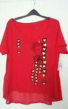 Alice in Wonderland Disney Store Red Queen of Hearts Looking Glass Top Shirt