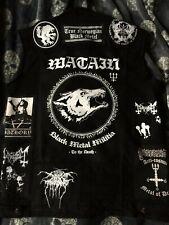 Black Metal Battle Jacket Cut-Off Denim Vest Darkthrone Watain Mayhem Archgoat