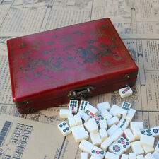 Mini Portable Mah Jong Board - Classic Family Table Game - Mah Jong Game Set