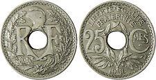 25  CENTIMES  LINDAUER ,  1916  CMES  SOULIGNÉ  ,  SUPERBE