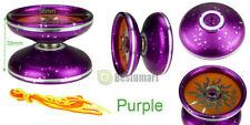 Aluminum Design Professional YoYo Ball Bearing String Trick Alloy Kids Purple