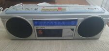 Sony Cfs-250 Fm/Am Stereo Cassette Recorder Portable Boombox Working Silver Cord