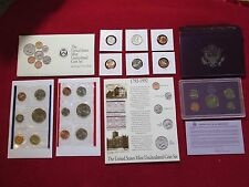 COIN LOT MINT PROOF SETS +90% SILVER 1964 QUARTER NO JUNK DRAWER NO RESERVE #B85