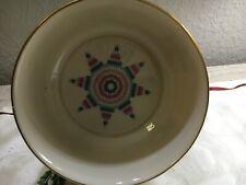 """Lenox Quilt Round Bowl 6 3/4"""" Diameter Bone China Made In Usa"""