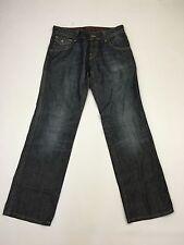 Para hombres Tommy Hilfiger 'Keith' Jeans Rectos-W33 L34-Azul Marino-Excelente Estado